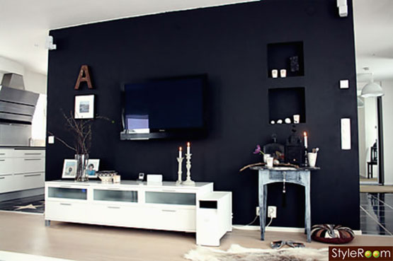 8 easy decorative ways to hide your tv. Black Bedroom Furniture Sets. Home Design Ideas