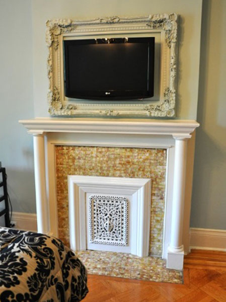 8 easy decorative ways to hide your tv for Cool tv wall mounts