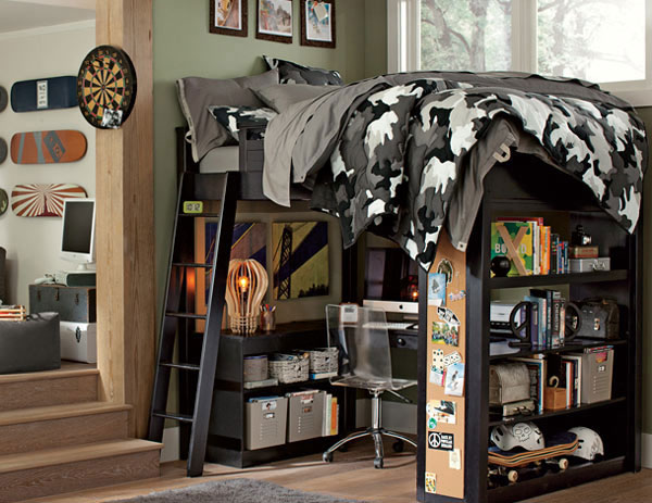 7 cool decorating ideas for a boy 39 s bedroom the for Camo kids bedroom ideas