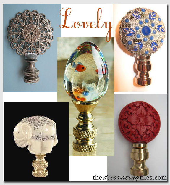 Finishing Touches: Lamp Finials - The Decorating Files