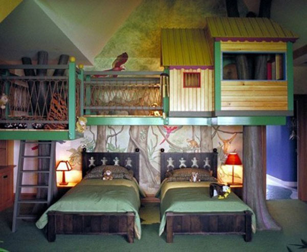 Tree House Bedroom Room Color Ideas