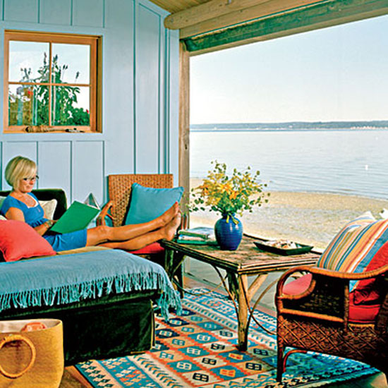 Colorful Room Decor: Beach Cottage Style: Adding Color To Coastal Style