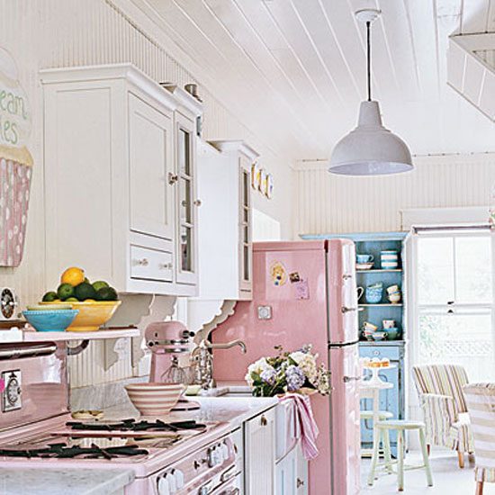 Coastal Cottage Style Kitchen Simple Home Decoration