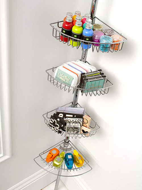 8 clever craft storage ideas the decorating files for Astuce de rangement chambre