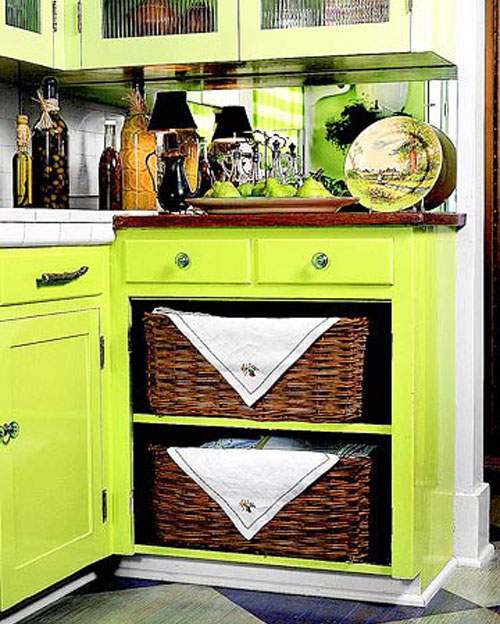 Kitchen Storage Ideas Using Baskets