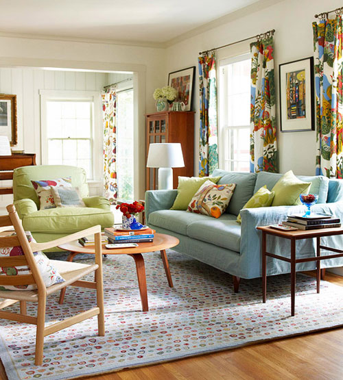 Colorful Living Room Curtains: 10 Decorating Ideas For Renters