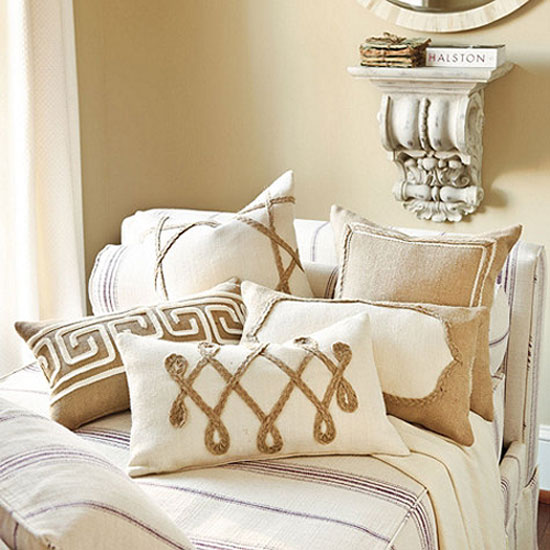 Burlap Accent Pillows