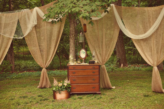 Burlap Outdoor Curtains