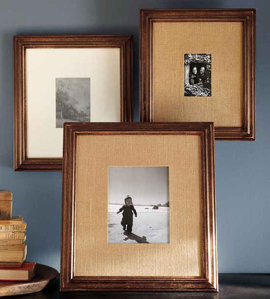 Burlap Picture Frame Matting