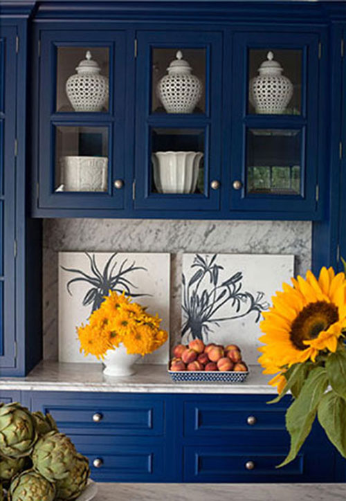 Decorating With Blue Cabinets