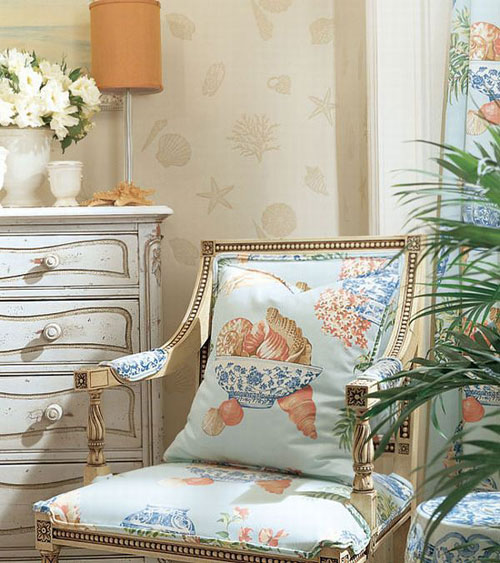 Decorating With Blue Coastal Style Chair