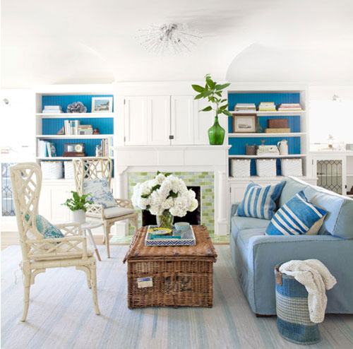 Decorating With Blue Family Room