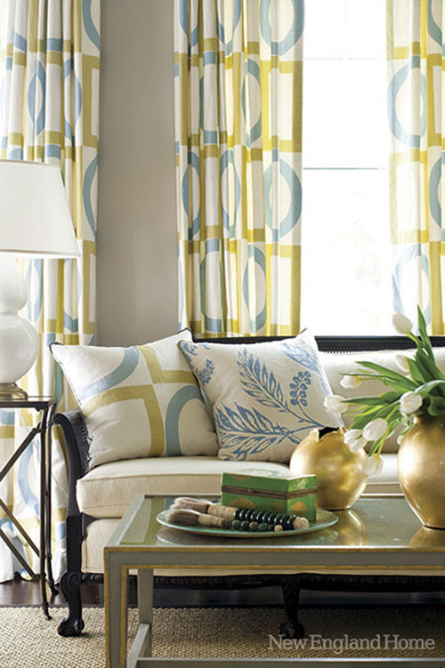 Decorating With Blue Gold