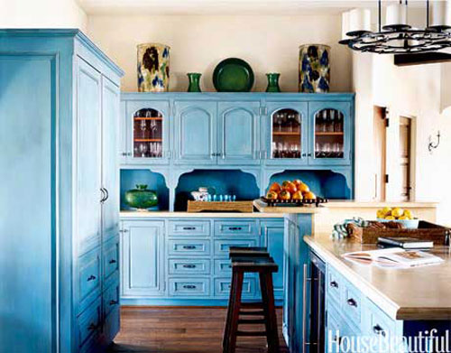 Decorating With Blue Kitchen Cabinets