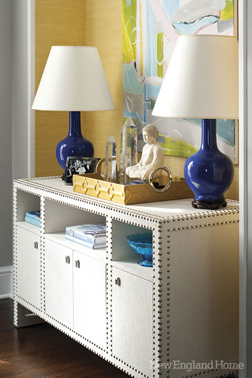 Decorating With Blue Lamps