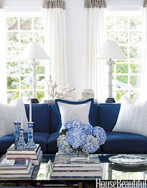 Decorating With Blue White Living Room