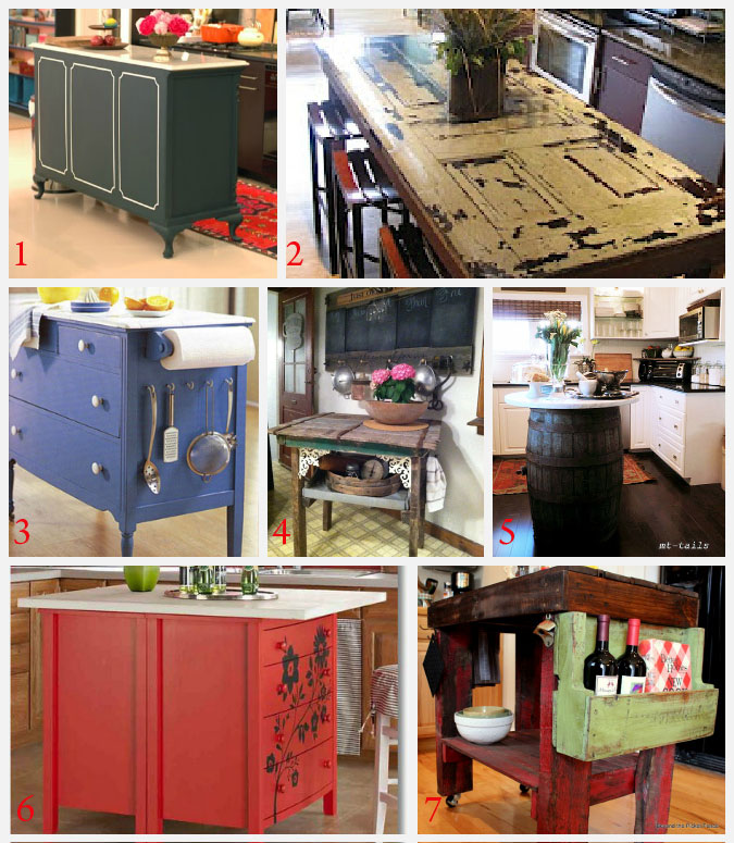 Kitchen Island Ideas for decorating and DIY projects. 1