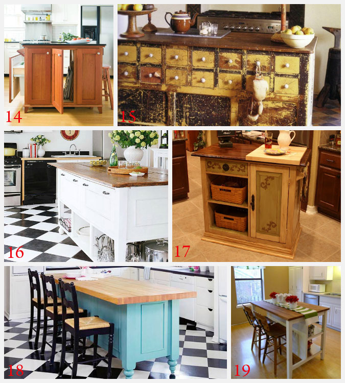 Kitchen Island Ideas for decorating and DIY projects. 3