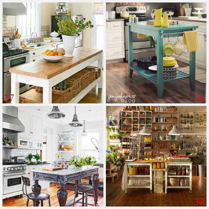 Kitchen Island Ideas Decorating and DIY Projects