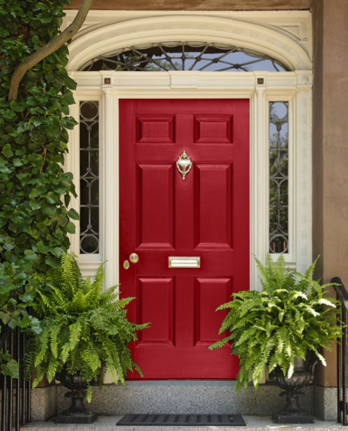 Red Front Doors Awesome Of Red Front Door Colors Photo