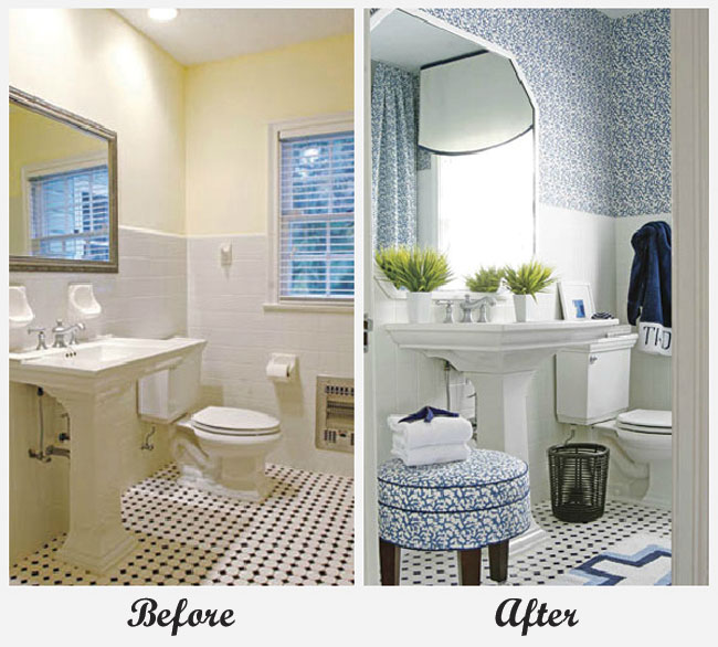 Room makeovers each featuring a very different before and after - Small space makeovers ideas ...
