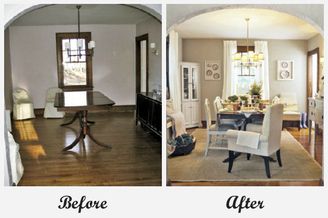 Room Makeovers Extraordinary Of Dining Room Makeover Before and After Pictures