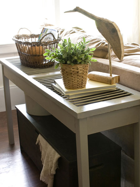 Home DIY Projects Shutter Console Table