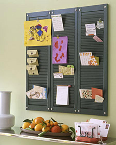 Home DIY Projects Shutter Organizer