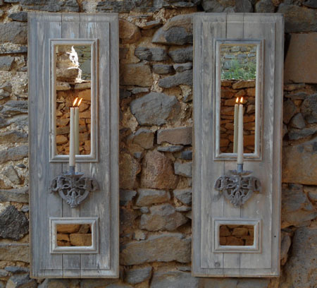 Home DIY Projects Shutter Panel Sconces