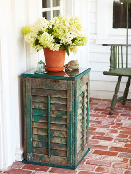 Home DIY Projects Shutter Side Table