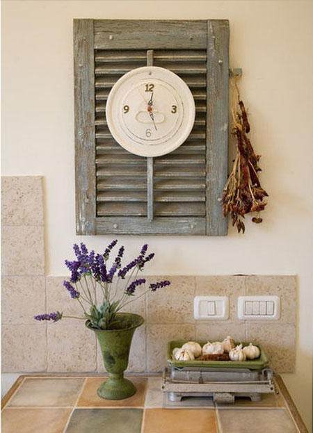 Home DIY Projects Shutter Wall Clock