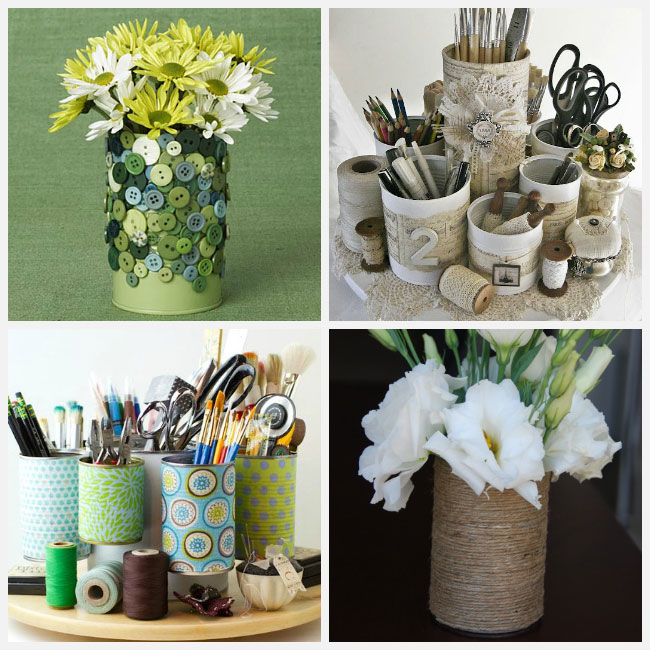 Pin 10 Ideas To Recycle Tin Cans As Handy Organizers Photo