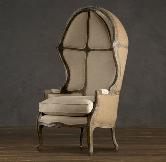 Versailles Domed Burlap Backed Chair