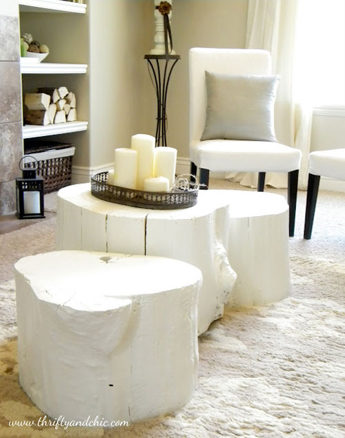 DIY Coffee Table: Make a coffee table out of tree stumps