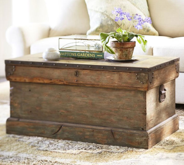 DIY Coffee Tables: Make a coffee table by using an old trunk