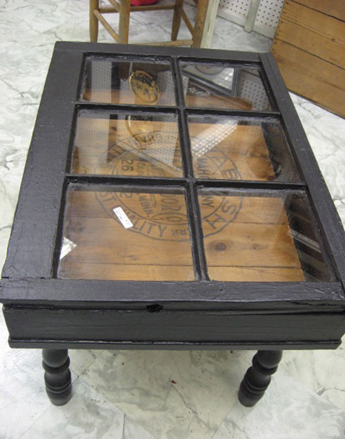 DIY Coffee Tables: Make a coffee table out of a salvaged window