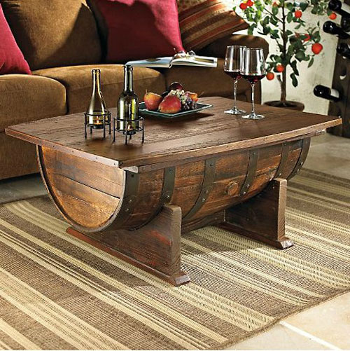 DIY Coffee Tables: Make a coffee table out of a wine barrel