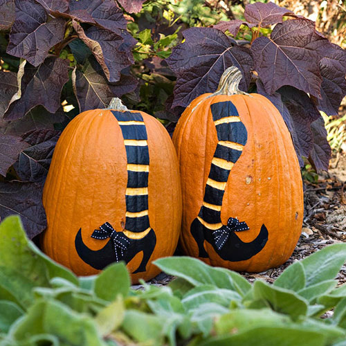 Pumpkin decorating ideas without all the carving for Different pumpkin designs