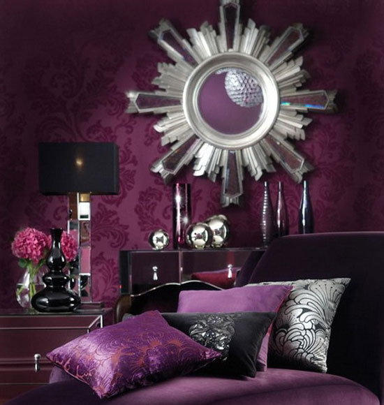 Jewel Tone Colors Amethyst Living Room
