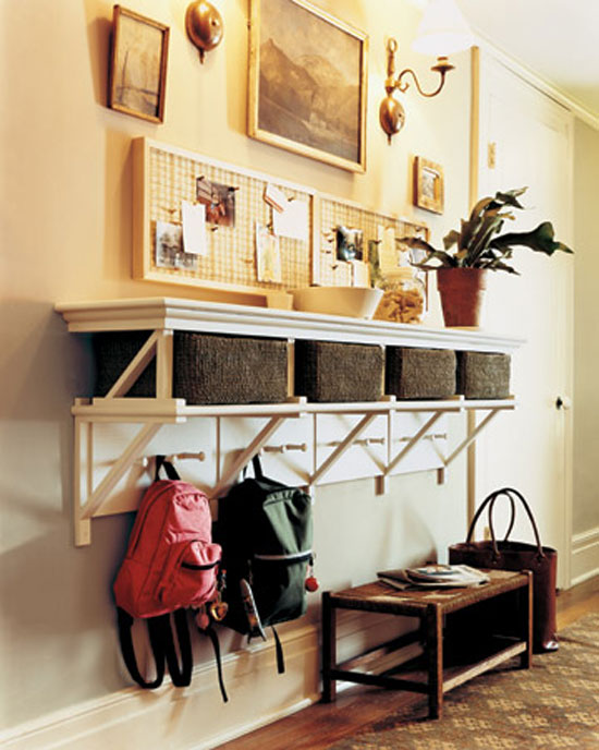 Cheap decorating ideas thursday 39 s thrifty three week 2 for Foyer storage ideas
