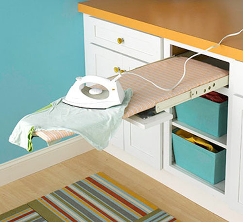 Ironing Table Designs : Laundry Room Ideas - Budget-Friendly and Easy to Do