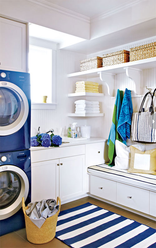 Laundry room ideas budget friendly and easy to do - Laundry room for small spaces ...