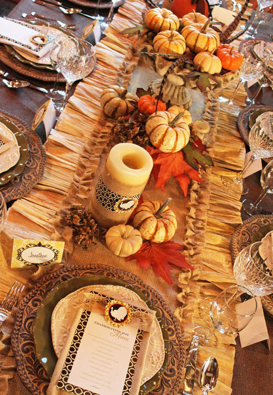 Tabletop Tuesday Fall Table Setting Ideas Week 3: thanksgiving decorating ideas