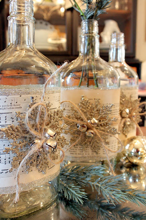 Christmas crafts fun and easy diy projects week 1 - How to decorate old bottles ...