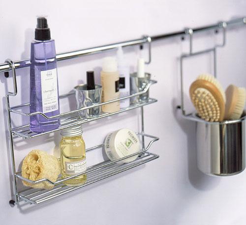 Stylish Bathroom Storage Ideas: Repurpose A Kitchen Storage Bar For The  Bathroom. Hang It