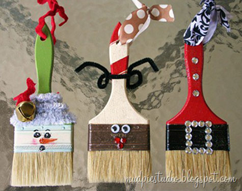 Pinterest Crafts Christmas Paintbrush