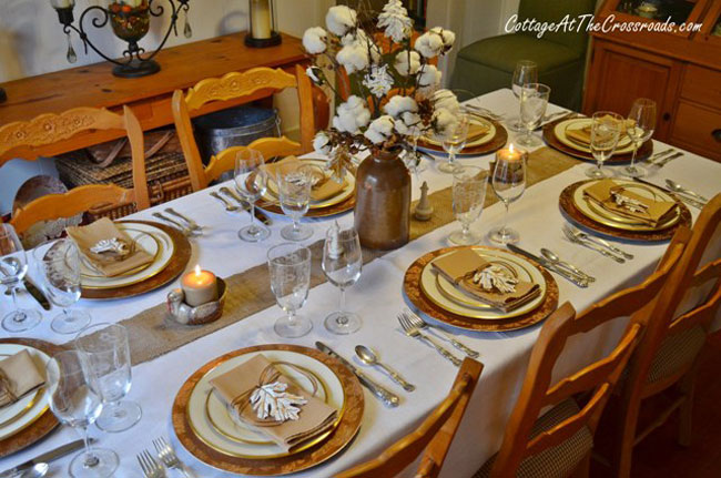 Tabletop Tuesday: Fall Table Setting Ideas Week 5   An Elegant Design That  Blends Rustic