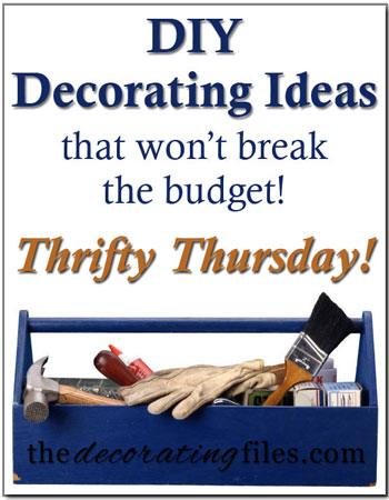 Thrifty Thursday Diy The Decorating Files