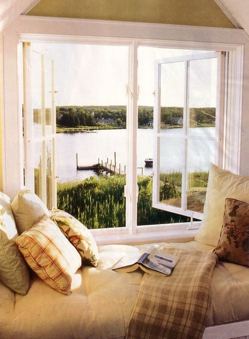 Reading Nooks: What better spot to read a book than one with a amazing view.