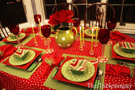 Christmas Table Ideas Decorating With Red And Green